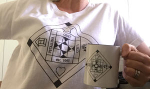 Petaluma Quilt Guild tshirt and mug