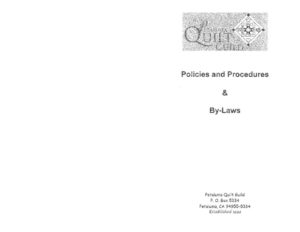 thumbnail of Combined Policies, Procedures, By-Laws – Booklet Form 08-04-14 (1)