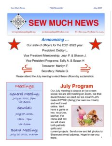 PQG July 2021 Newsletter